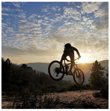 Sunset ride vtt